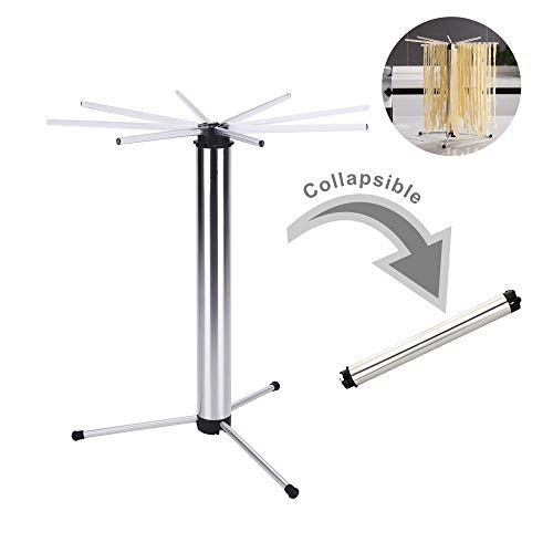 Pasta Drying Rack | Foldable for Easy Storage | Quick Set-Up | Rotary System & Easy to Transfer |...