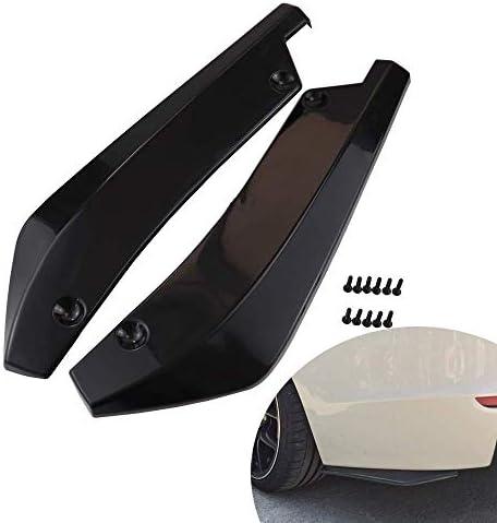 Rear Bumper Diffuser Universal Car Side Fender Skirt Lip Splitter Canard Protector 1 Pair Carbon Fiber/Black (Black)