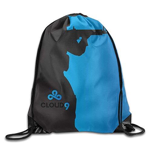 SHALLY Cloud 9 Team Art CS Go Drawstring Backpack Sack Bag
