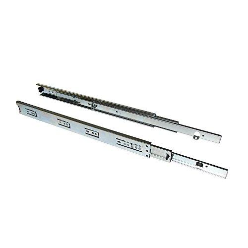 Satz Kugelführungen für Schubladenelement Emuca mit vollständigem Auszug 45 mm X L 400 mm, mit Winkeln.