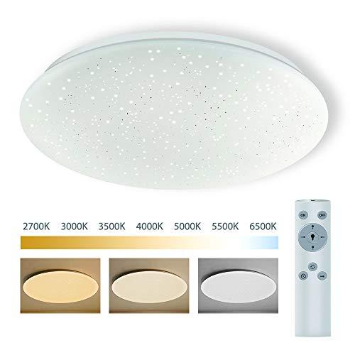 LED Deckenleuchte Dimmbar mit Fernbedienung, BIGHOUSE 18W 1600lm Deckenlampe 2700K-6500K, Ersatz für 100W Halogenlampen, IP44 Wasserfest für Badezimmer, Wohnzimmer, Balkon, Flur Küche, Ø30cm