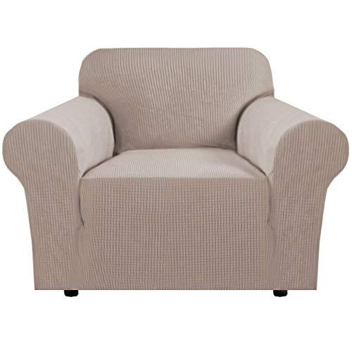BellaHills Sesselbezug Stretch Sofabezug, Sofa Schonbezug für Wohnzimmer, verdickte Stretch Schonbezug Couchbezug, bequem und langlebig (1 Sitzer, Sand)