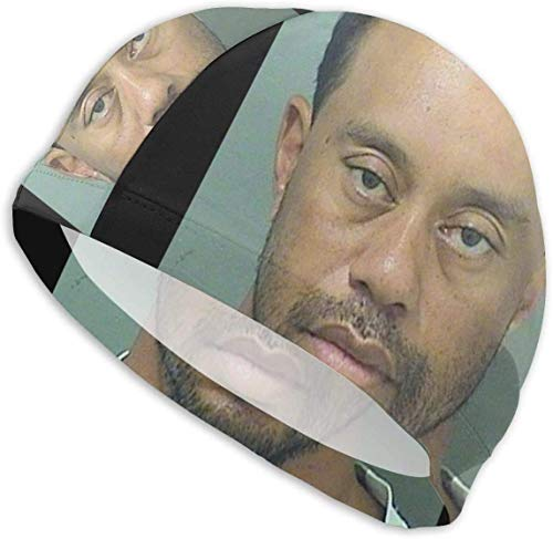 forihifngjnjyhk Badehut Badekappe, Tiger Woods DUI Mug Shot Swim Cap Bathing Cap for Adult Swimming Cap