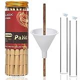 PaNt | 100 Pcs | 110 mm Conos No espiral pre enrollados de King Size | Papeles de liar Natural Cones con puntas y cargador de embudo y varilla para empujar