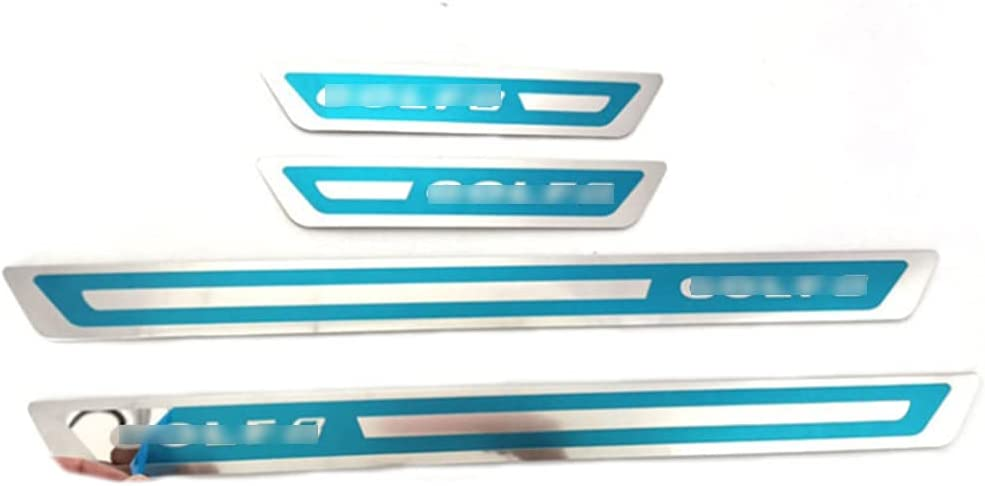 4 Pieces Stainless Steel Car Sale Door Sills Topics on TV f Plate Scuff Sill Guard