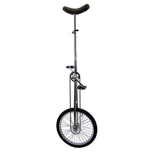 Fun 20 Inch Wheel Super-Tall Chrome Unicycle