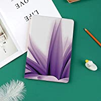 個性的 IPad Pro 11 ケース(2018秋新型モデル) 高級PUレザー製 オートスリープ機能 ペンのペアリングと全面保護 傷つけ防止 手帳型 2018秋発売のiPad Pro 11に対応 スマートカバー紫色のオンブルの長い葉水カラー写真を落ち着かせる詳細画像