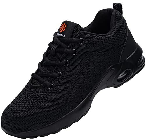 Zapatos de Seguridad Hombre Mujer,Zapatillas de Seguridad Hombre Zapatos de Trabajo Calzado de Trabajo con Punta de Acero Ligeros