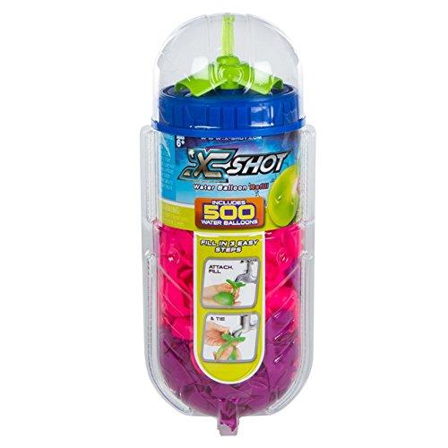 X-Shot Cubo 500 globos de agua con adaptador para grifo (42720)
