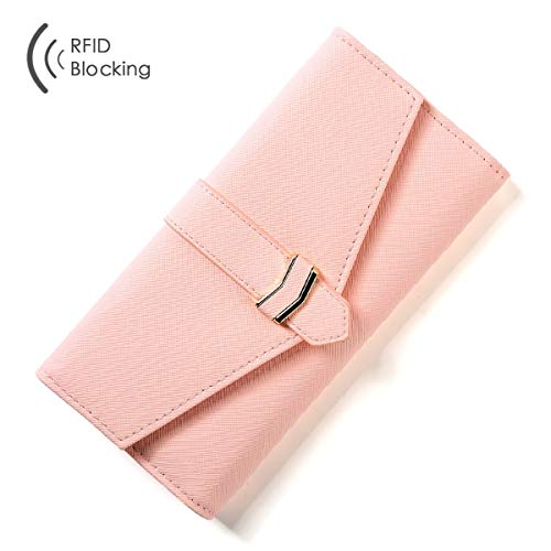 RAINYGO Wallets for women Trifold RFID Blocking Multi Cards Womens Wallet Organizer Clutch