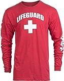 Lifeguard | Red Guard Unisex Uniform Costume Long Sleeve T-Shirt for Men Women -...