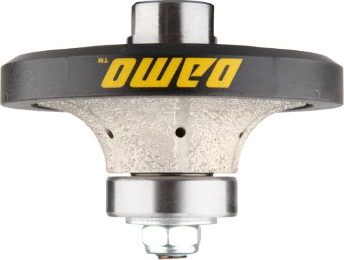 DAMO B20 3/4 inch Demi Bullnose Half Bullnose Roundover Diamond Hand Profiler Router Bit Profile Wheel with 5/8-11 Thread for Granite Concrete Marble Countertop Edge