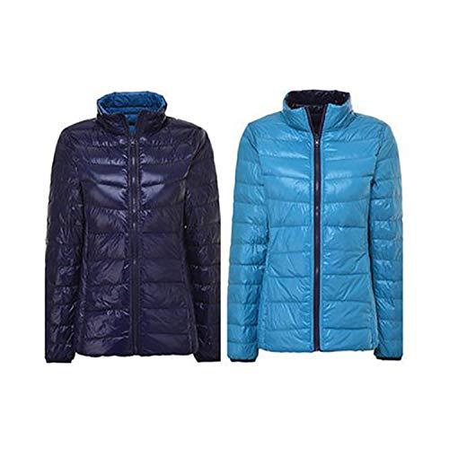 Chaqueta de invierno para mujer de plumón chaquetas de las mujeres ultra ligera otoño básica chaqueta de plumas famale chaquetas de doble cara reversible cálido abrigo