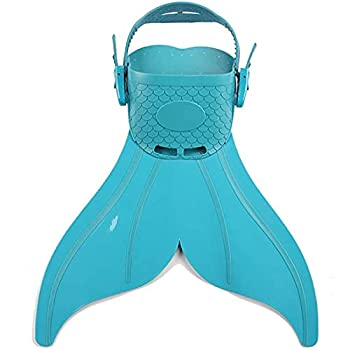 Monofin Adjustable Mermaid Tails Swim Fins with 3 Color for Swimming with Flipper Diving Fins-Girls,Boys