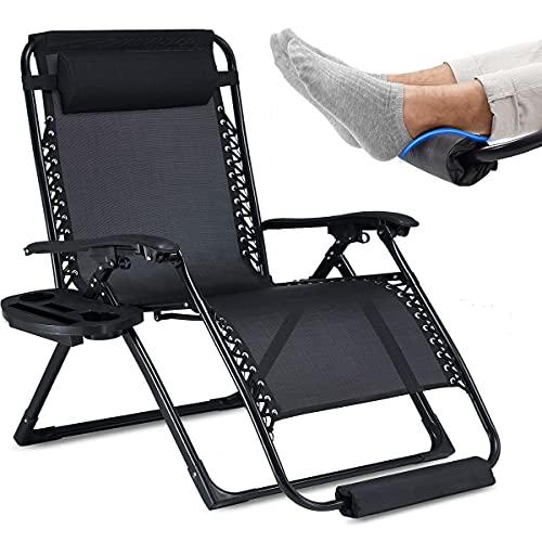 EZCHEER Oversized Zero Gravity Chair with Foot...