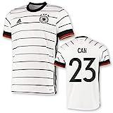 adidas DFB Deutschland Trikot Home EM 2020 Kinder inkl. Original Flock (Can + 23, 128)