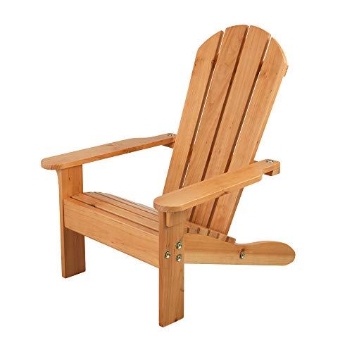 KidKraft 83 Chaise en bois Adirondack, meuble de jardin enfant - coloris miel