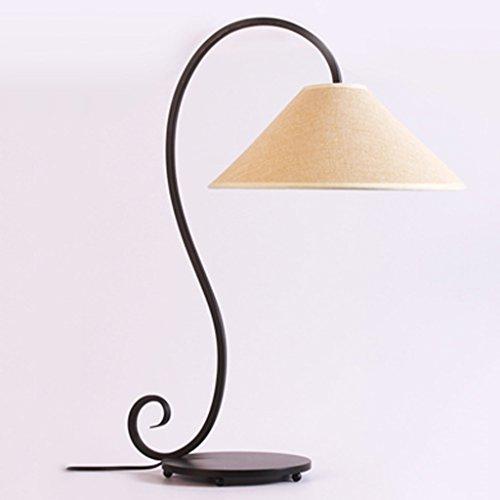 HAIYING Lampe De Bureau Grande Lampe De Bureau en Fer Forgé Rustique Lampe De Bureau en Fer Forgé