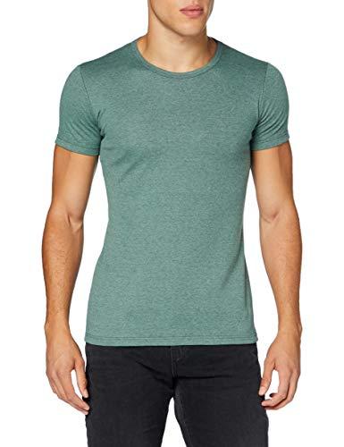 Trigema Herren 602201 T-Shirt, Green-Melange, M