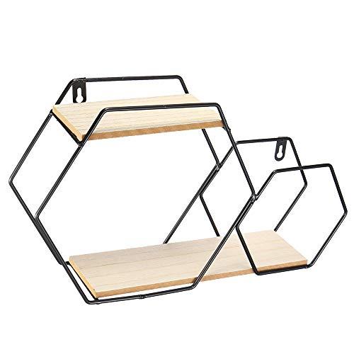 Wandplank Hangende Huishoudelijke Opslag En Decoratieve Planken Zeshoekige Metalen Opbergrekken Geschikt Voor De Woonkamer Van Kinderen Woonkamer Slaapkamer