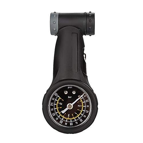 Fahrradreifen Manometer, Rennrad Mountainbike Reifen Luftdruckmesser Fahrradreparaturwerkzeug Radfahren Doppelventil (Presta/Schrader) bis 160 PSI