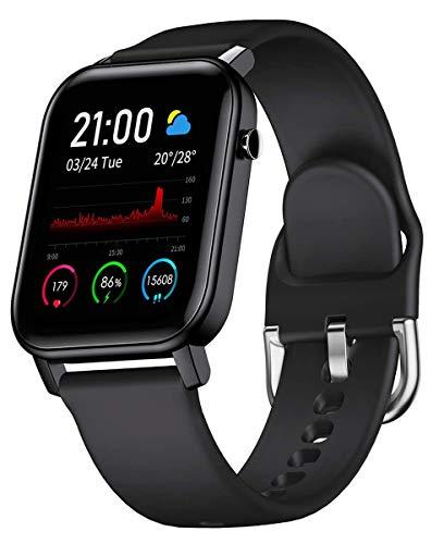 スマートウォッチ PUZESHUN 万歩計 活動量計 歩数計 多機能 腕時計 消費カロリー 1.4 HDカラー画面 Bluetooth5.0 IP68防水 GPS運動記録 着信 電話/Twitter/WhatsApp/Line通知 24時間自動計測 男性用および女性用のスポーツウォッチに適しています 長座注意 日本語アプリ iPhone/Android対応