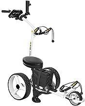 Bat-Caddy X4 Sport Electric Push Cart w/ Free Accessory Kit, 35Ah, White