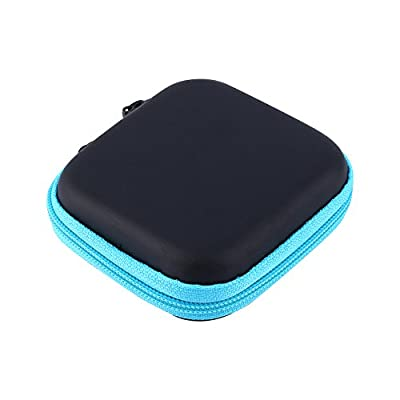 Lazmin Headphones Travel Organizer Case, Mini Storage Box for Earphone USB Cable Charger,Earbuds Carrying Pouch