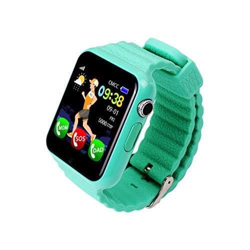 Posizione smartwatch stand-alone card call 1.54 inch touch screen impermeabile Verde.