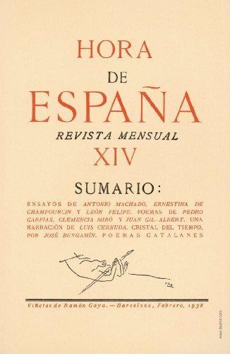 Hora de España. Febrero 1938. Rosalía de Castro. Sombras en el salón por Luis Cernuda. Poemas catalanes. Nova Antología.