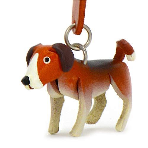 Monkimau - Llavero de piel con diseño de perro Beagle
