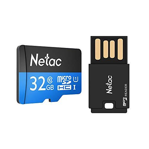 Cartão Memória Micro SD 80MBs Netac e ADPT USB (32Gb)