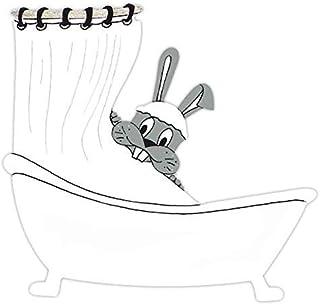 Plaque de porte de salle de bains Lapin, signalétique humoristique douche et salle de bains