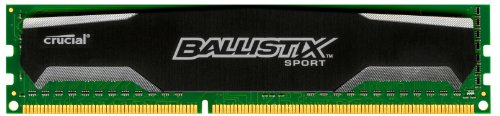 Crucial Ballistix Sport 4GB Single DDR3 1333 MT/s (PC3-10600) CL9 @1.5V UDIMM 240-Pin Memory BLS4G3D1339DS1S00