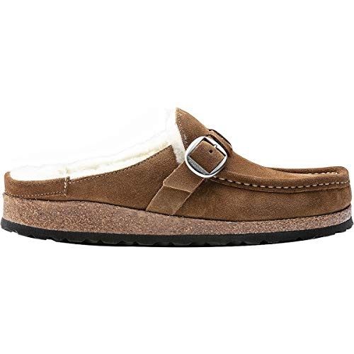 Birkenstock Buckley Suede Leather Slip-Ons Shearling, Tea, 39 N EU