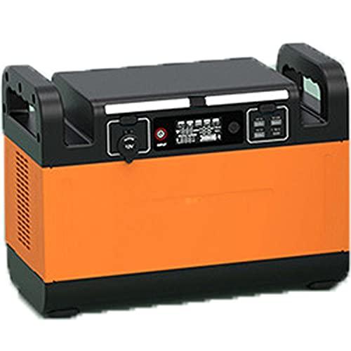 Generatore di Corrente Generatore Solare Portatile, Onda Sinusoidale Puro 220v   1500w, Presa di Corrente Ca, Generatore Esterno Adatto per Campeggio, Pesca NOTT(Size:1500W,Color:Arancione Vibrante)