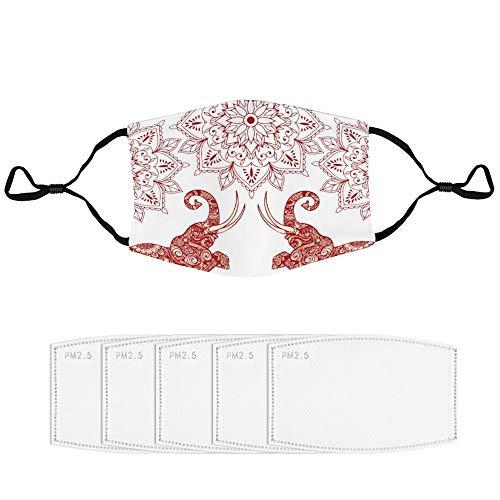 Stof Masker met Filter (Multiple Spare Filter Elements) Ornament Illustratie Visuele Kunsten Behang Fictionele Karakter Animal Figure color28 met 5 filterFace Cover