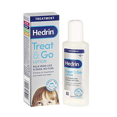 Hedrin Treat and Go Lotion, Head Lice Treatment, Kills Headlice and Eggs in...