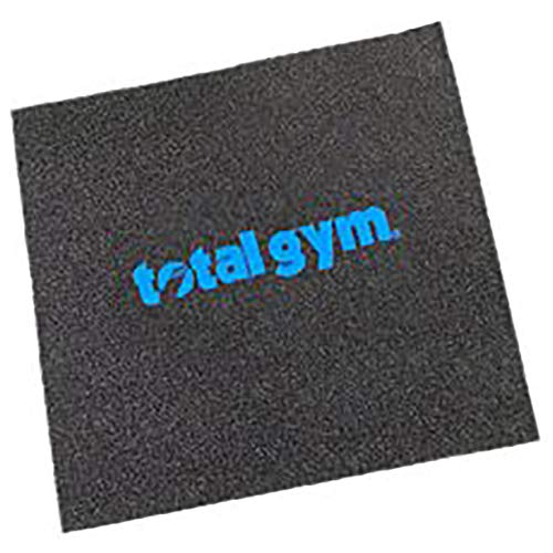 Total Gym 20 x 22 Inch Anti Slip Under Workout Machine Gym Floor Mat for Added Safety and Stability