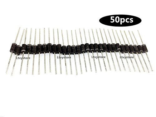 Rectifier Diode, SR5100 5A 100V Small Signal Schottky Barrier MIC Axial Rectifier Diodes, Pack of 50, Sold By Ltvystore