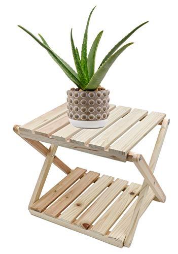 Möbelbörse Beistelltisch Klapptisch Holz Balkontisch Gartentisch Wohnzimmer Klapptisch Blumenständer klappbar