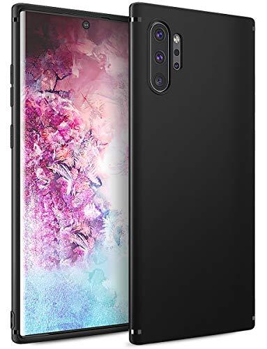 BENNALD Hülle für Samsung Galaxy Note 10 Plus Hülle, Soft Silikon Schutzhülle Case Cover - Premium TPU Tasche Handyhülle für Samsung Galaxy Note 10+(Schwarz,Black)