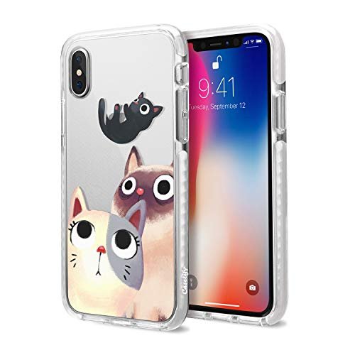CASETiFY Impact Case, Military-Grade Dual-Layer Shockproof Protective Case for iPhones, iPhone Xs, Cute Cat