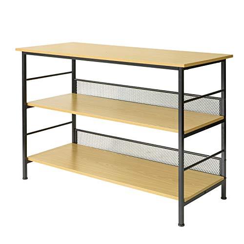 SoBuy FSB27-N Küchentisch mit 3 Ablagen Küchenschrank Sideboard Konsolentisch Eingangsbereich BHT ca.: 120x80x50cm