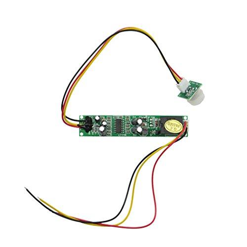 perfk Detector de Movimiento Activado Interruptor de Detector PIR Sensor de Infrarrojos Panel LED 12V