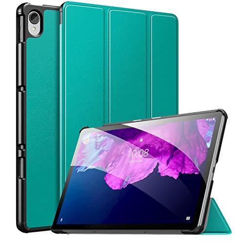 MoKo Funda Compatible con Lenovo Tab P11 11' TB-J606 Tableta, Ultra Slim Ligera Función de Soporte Protectora Plegable Cover Cubierta Durable Auto Sueño/Estela, Ejército Verde