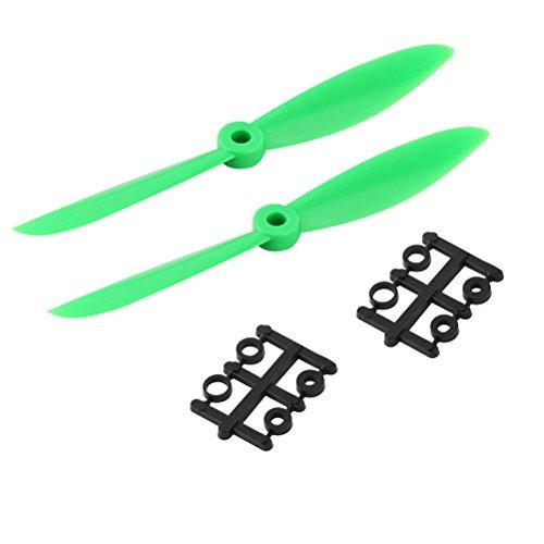 PIXNOR 2 Paires de 6 * 4.5 6045 CW CCW Hélices pour RC Quadcopter (Vert)