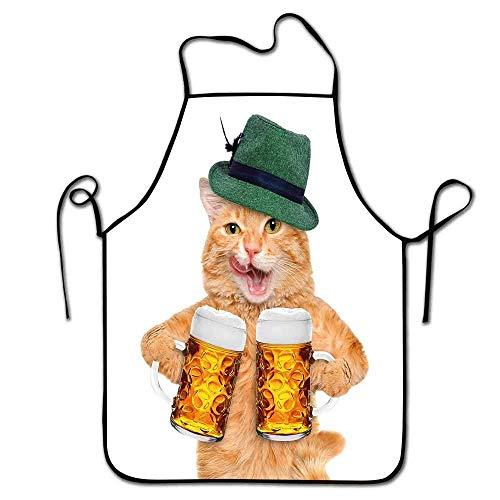 Not Applicable Delantal de Camarero de Gato Hombres Gato Fresco con Sombrero...