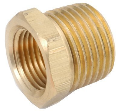 Yellow Brass Hex Bushing (Pack of 5) by Anderson Metals