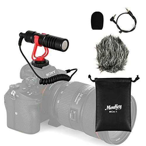 Moukey MCm-1 Micrófono Universal para Videocámaras/Cámara Canon EOS/Nikon Digital SLR/Android Smartphones/Mac Tablet